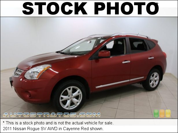 Stock photo for this 2011 Nissan Rogue SV AWD 2.5 Liter DOHC 16-Valve CVTCS 4 Cylinder Xtronic CVT Automatic