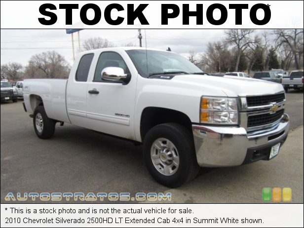 Stock photo for this 2010 Chevrolet Silverado 2500HD LT Extended Cab 4x4 6.0 Liter Flex-Fuel OHV 16-Valve VVT Vortec V8 6 Speed Automatic