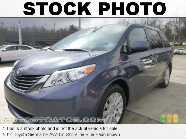 Stock photo for this 2014 Toyota Sienna LE AWD 3.5 Liter DOHC 24-Valve Dual VVT-i V6 6 Speed ECT-i Automatic