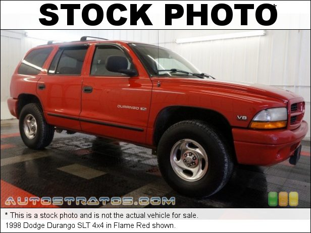 Stock photo for this 1998 Dodge Durango SLT 4x4 5.2 Liter OHV 16-Valve V8 4 Speed Automatic