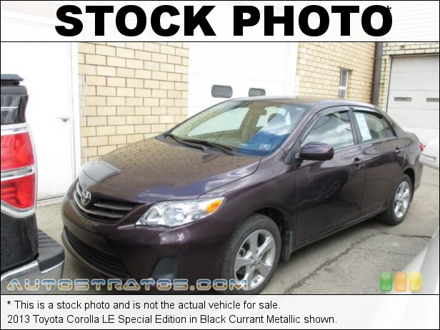 Stock photo for this 2013 Toyota Corolla LE Special Edition 1.8 Liter DOHC 16-Valve Dual VVT-i 4 Cylinder 4 Speed ECT-i Automatic