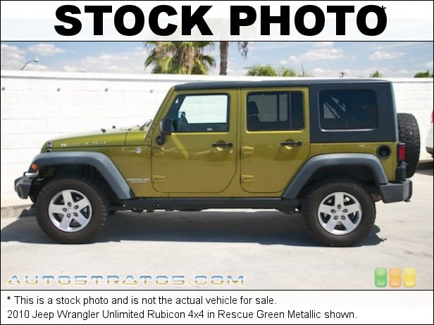 Stock photo for this 2010 Jeep Wrangler Unlimited Rubicon 4x4 3.8 Liter OHV 12-Valve V6 6 Speed Manual