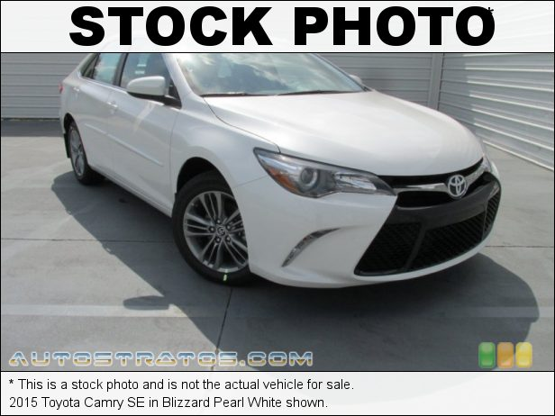 Stock photo for this 2015 Toyota Camry SE 2.5 Liter DOHC 16-Valve Dual VVT-i 4 Cylinder 6 Speed ECT-i Automatic