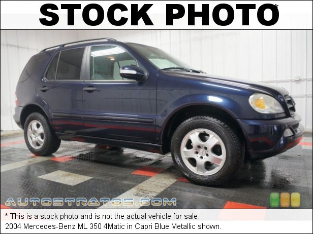 Stock photo for this 2004 Mercedes-Benz ML 350 4Matic 3.7L SOHC 18V V6 5 Speed Automatic