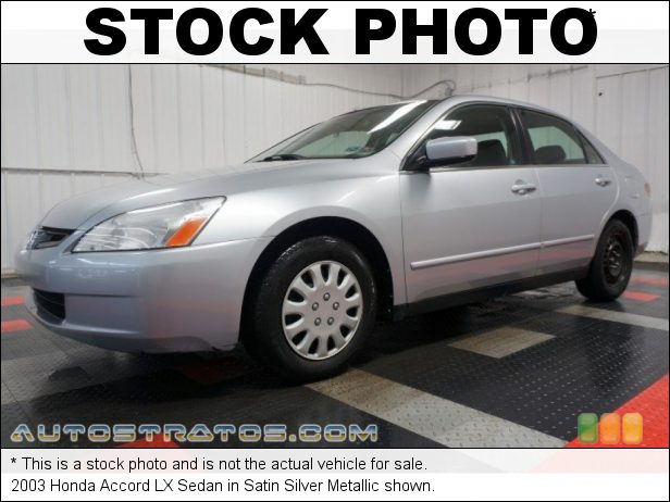 Stock photo for this 2003 Honda Accord LX Sedan 2.4 Liter DOHC 16-Valve i-VTEC 4 Cylinder 5 Speed Automatic