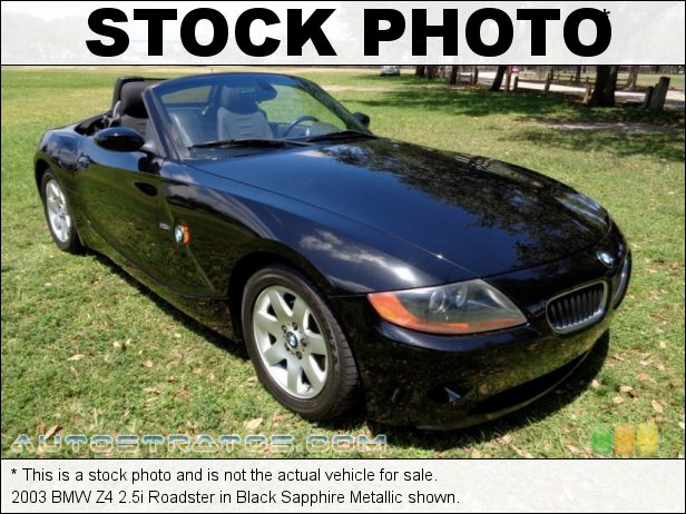 Stock photo for this 2003 BMW Z4 2.5i Roadster 2.5 Liter DOHC 24V Inline 6 Cylinder 5 Speed Manual