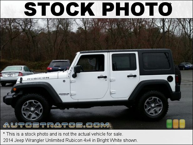 Stock photo for this 2014 Jeep Wrangler Unlimited Rubicon 4x4 3.6 Liter DOHC 24-Valve VVT V6 5 Speed Automatic