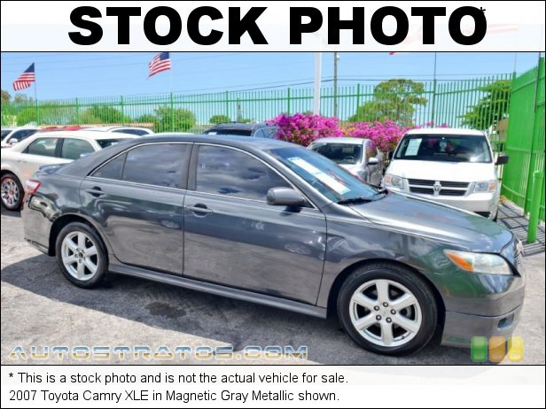Stock photo for this 2007 Toyota Camry XLE 2.4L DOHC 16V VVT-i 4 Cylinder 5 Speed Automatic
