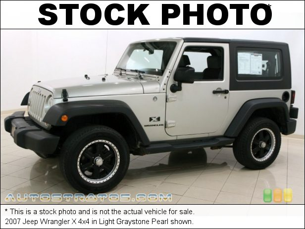 Stock photo for this 2007 Jeep Wrangler X 4x4 3.8 Liter OHV 12-Valve V6 6 Speed Manual