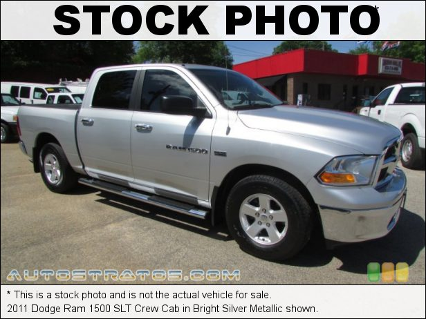 Stock photo for this 2011 Dodge Ram 1500 SLT Crew Cab 5.7 Liter HEMI OHV 16-Valve VVT MDS V8 5 Speed Automatic