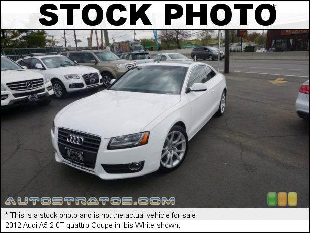 Stock photo for this 2012 Audi A5 2.0T quattro Coupe 2.0 Liter FSI Turbocharged DOHC 16-Valve VVT 4 Cylinder 8 Speed Tiptronic Automatic