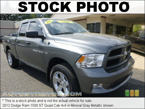 Stock photo for this 2012 Dodge Ram 1500 Quad Cab 4x4 5.7 Liter HEMI OHV 16-Valve VVT MDS V8 6 Speed Automatic
