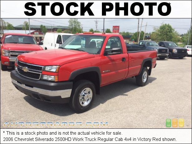 Stock photo for this 2006 Chevrolet Silverado 2500HD Work Truck Regular Cab 4x4 6.0 Liter OHV 16-Valve Vortec V8 4 Speed Automatic