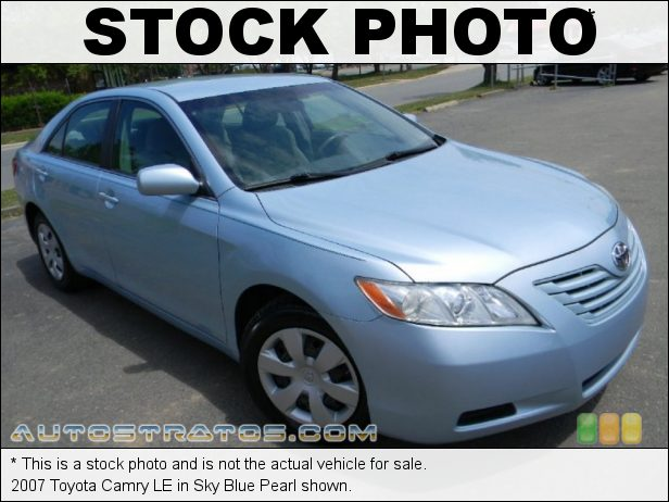 Stock photo for this 2007 Toyota Camry LE 2.4L DOHC 16V VVT-i 4 Cylinder 5 Speed Automatic