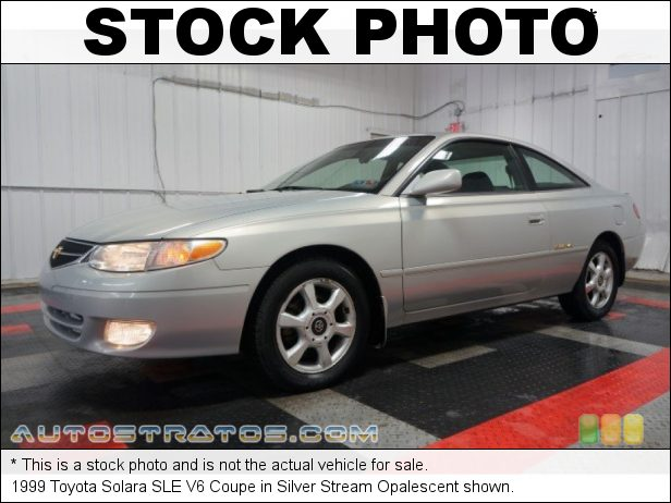 Stock photo for this 1999 Toyota Solara SLE V6 Coupe 3.0 Liter DOHC 24-Valve V6 4 Speed Automatic