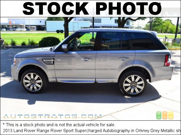 Stock photo for this 2013 Land Rover Range Rover Sport Supercharged Autobiography 5.0 Liter Supercharged GDI DOHC 32-Valve DIVCT V8 6 Speed CommandShift Automatic