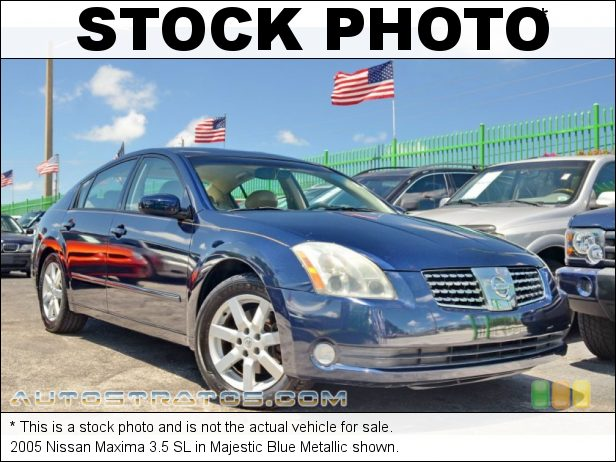 Stock photo for this 2005 Nissan Maxima 3.5 SL 3.5 Liter DOHC 24 Valve V6 5 Speed Automatic