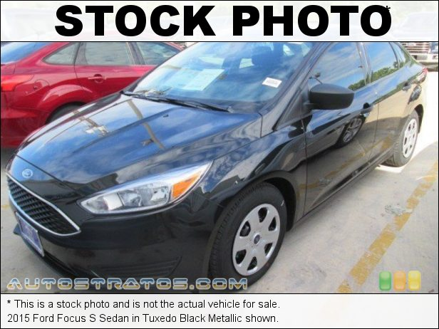 Stock photo for this 2015 Ford Focus S Sedan 2.0 Liter GDI DOHC 16-Valve Ti-VCT 4 Cylinder 6 Speed PowerShift Automatic