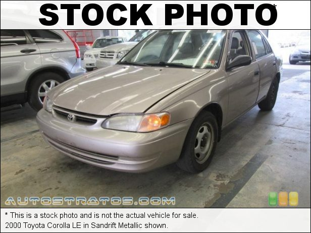 Stock photo for this 2000 Toyota Corolla LE 1.8 Liter DOHC 16-Valve 4 Cylinder 5 Speed Manual