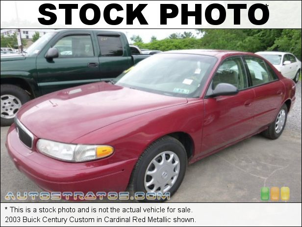 Stock photo for this 2003 Buick Century Custom 3.1 Liter OHV 12-Valve V6 4 Speed Automatic