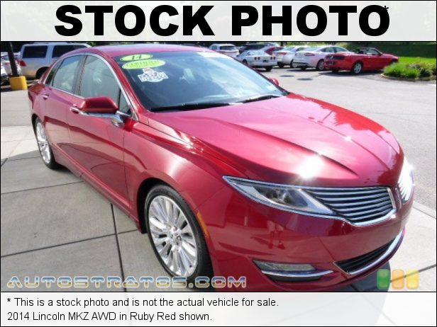 Stock photo for this 2014 Lincoln MKZ AWD 2.0 Liter GTDI Turbocharged DOHC 16-Valve EcoBoost 4 Cylinder 6 Speed SelectShift Automatic