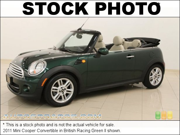 Stock photo for this 2011 Mini Cooper Convertible 1.6 Liter DOHC 16-Valve VVT 4 Cylinder 6 Speed Manual