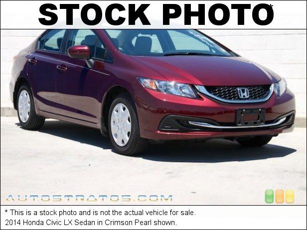 Stock photo for this 2014 Honda Civic LX Sedan 1.8 Liter SOHC 16-Valve i-VTEC 4 Cylinder CVT Automatic