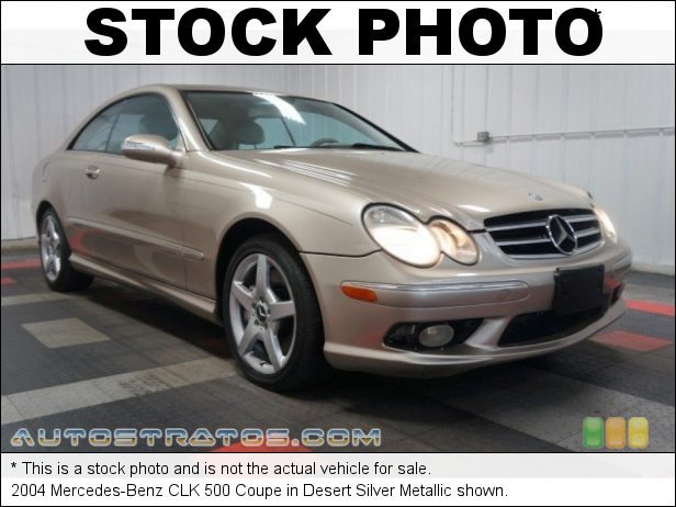 Stock photo for this 2004 Mercedes-Benz CLK 500 Coupe 5.0 Liter SOHC 24-Valve V8 5 Speed Automatic