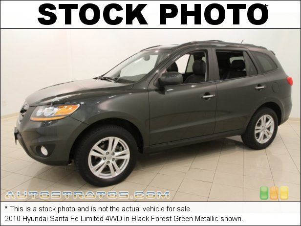 Stock photo for this 2010 Hyundai Santa Fe Limited 4WD 3.5 Liter DOHC 24-Valve V6 6 Speed Shiftronic Automatic