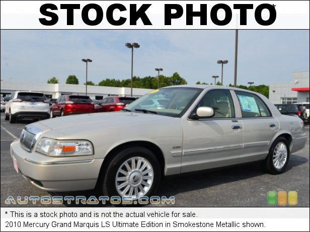 Stock photo for this 2010 Mercury Grand Marquis LS Ultimate Edition 4.6 Liter Flex-Fuel SOHC 16-Valve V8 4 Speed Automatic