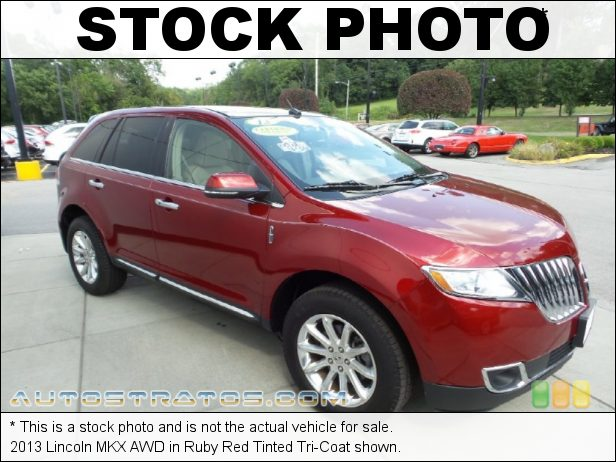 Stock photo for this 2013 Lincoln MKX AWD 3.7 Liter DOHC 24-Valve Ti-VCT V6 6 Speed SelectShift Automatic