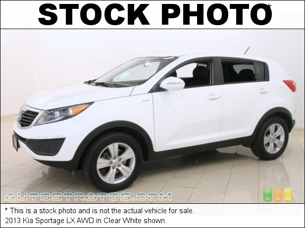 Stock photo for this 2013 Kia Sportage LX AWD 2.4 Liter DOHC 16-Valve CVVT 4 Cylinder 6 Speed Automatic