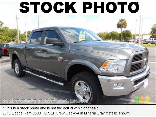 Stock photo for this 2012 Dodge Ram 2500 HD SLT Crew Cab 4x4 5.7 Liter HEMI OHV 16-Valve VVT V8 6 Speed Automatic
