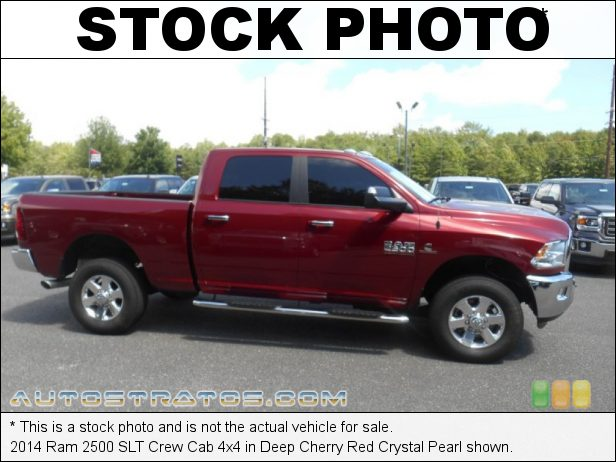 Stock photo for this 2014 Ram 2500 SLT Crew Cab 4x4 6.7 Liter OHV 24-Valve Cummins Turbo-Diesel Inline 6 Cylinder 6 Speed Automatic