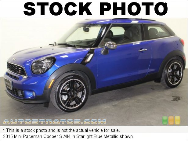 Stock photo for this 2015 Mini Paceman Cooper S 1.6 Liter Turbocharged DOHC 16-Valve VVT 4 Cylinder 6 Speed Manual