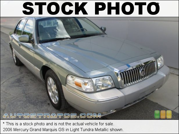 Stock photo for this 2006 Mercury Grand Marquis GS 4.6 Liter SOHC 16-Valve V8 4 Speed Automatic