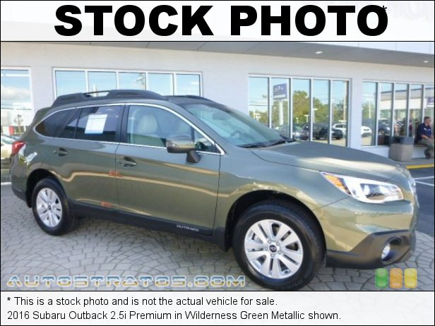 Stock photo for this 2016 Subaru Outback 2.5i Premium 2.5 Liter DOHC 16-Valve VVT Flat 4 Cylinder Lineartronic CVT Automatic