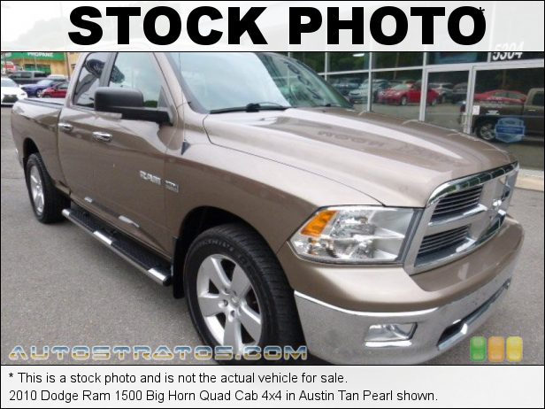 Stock photo for this 2010 Dodge Ram 1500 Quad Cab 4x4 5.7 Liter HEMI OHV 16-Valve VVT MDS V8 5 Speed Automatic