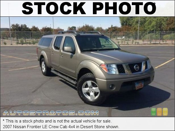 Stock photo for this 2007 Nissan Frontier Crew Cab 4x4 4.0 Liter DOHC 24-Valve VVT V6 5 Speed Automatic