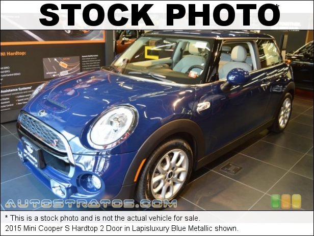 Stock photo for this 2015 Mini Cooper S Hardtop 2 Door 2.0 Liter TwinPower Turbocharged DOHC 16-Valve VVT 4 Cylinder 6 Speed Automatic