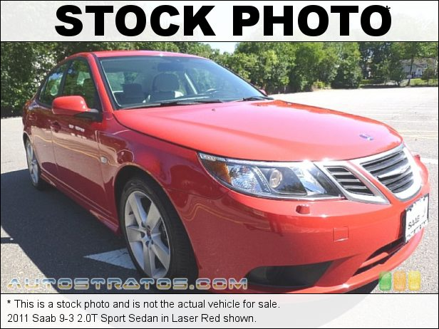 Stock photo for this 2011 Saab 9-3 2.0T Sport Sedan 2.0 Liter Turbocharged DOHC 16-Valve 4 Cylinder 5 Speed Automatic
