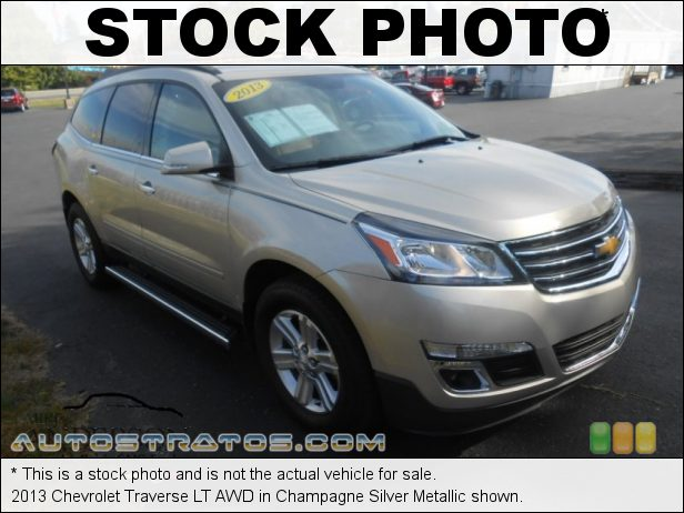 Stock photo for this 2013 Chevrolet Traverse LT AWD 3.6 Liter GDI DOHC 24-Valve VVT V6 6 Speed Automatic
