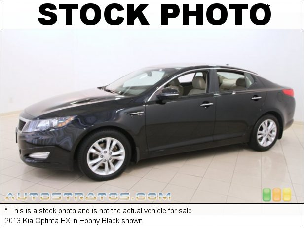 Stock photo for this 2013 Kia Optima EX 2.4 Liter GDI DOHC 16-Valve 4 Cylinder 6 Speed Sportmatic Automatic
