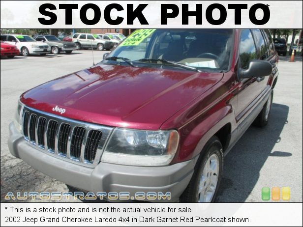 Stock photo for this 2002 Jeep Grand Cherokee Laredo 4x4 4.0 Liter OHV 12-Valve Inline 6 Cylinder 4 Speed Automatic