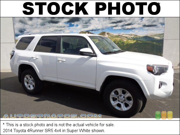 Stock photo for this 2014 Toyota 4Runner 4x4 4.0 Liter DOHC 24-Valve Dual VVT-i V6 5 Speed Automatic