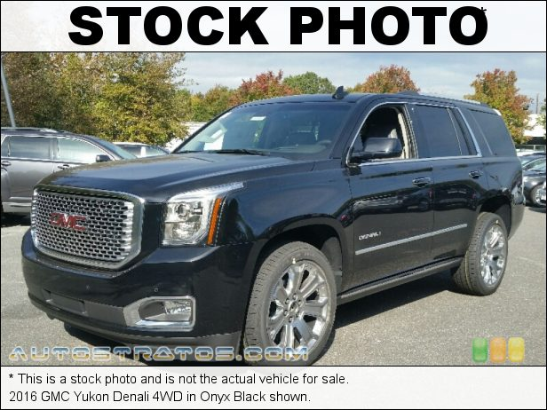 Stock photo for this 2016 GMC Yukon Denali 4WD 6.2 Liter DI OHV 16-Valve VVT EcoTec3 V8 6 Speed Automatic