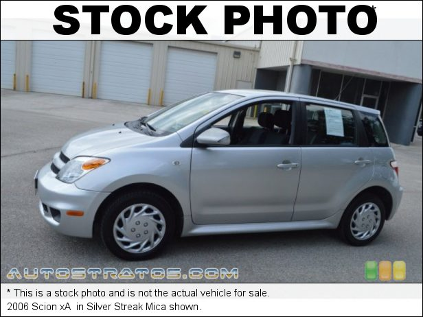 Stock photo for this 2006 Scion xA  1.5L DOHC 16V VVT-i 4 Cylinder 4 Speed Automatic