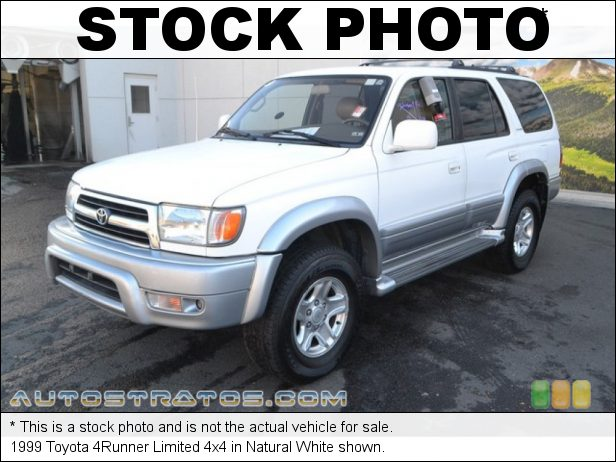 Stock photo for this 1999 Toyota 4Runner Limited 4x4 3.4 Liter DOHC 24-Valve V6 4 Speed Automatic