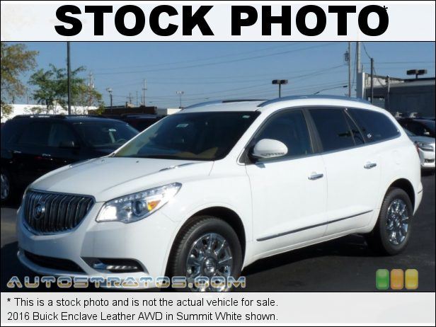 Stock photo for this 2016 Buick Enclave Leather AWD 3.6 Liter DI DOHC 24-Valve VVT V6 6 Speed Automatic