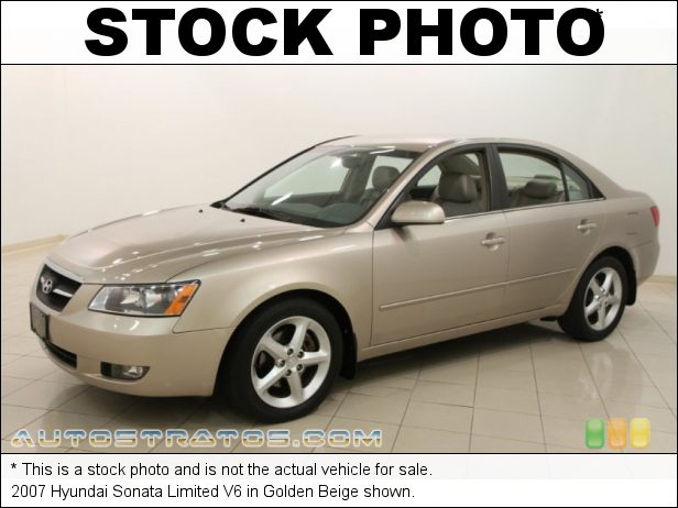 Stock photo for this 2007 Hyundai Sonata V6 3.3 Liter DOHC 24 Valve VVT V6 5 Speed Shiftronic Automatic